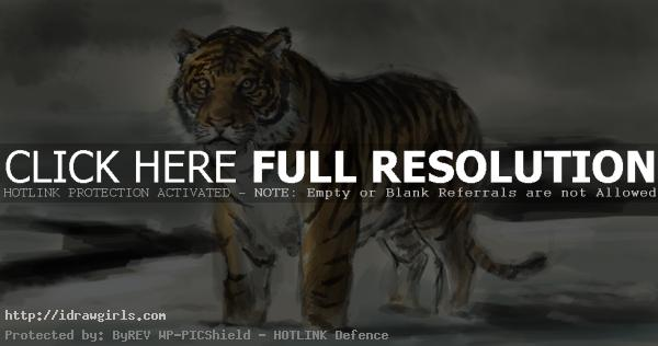 tiger painting How to draw tiger