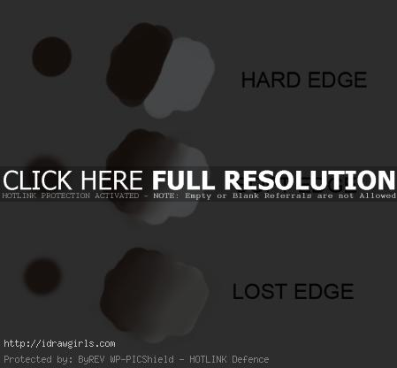 type of edges in painting Painting edges in illustration