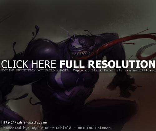 venom Digital painting tutorial Venom