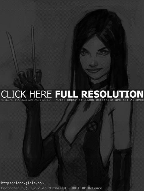 x23 marvel How to draw X 23