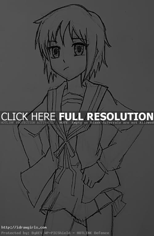 How to draw Yuki Nagato