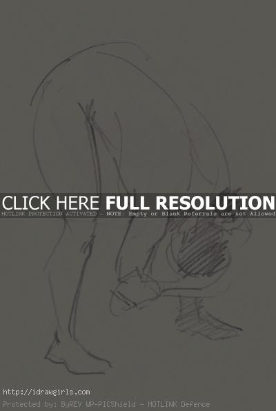 2 minutes gesture figure 002 Gestures life drawing from July 2011
