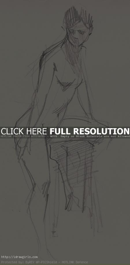 5 minutes gesture figure 001 Gestures life drawing from July 2011