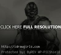 Bane drawing Batman dark knight