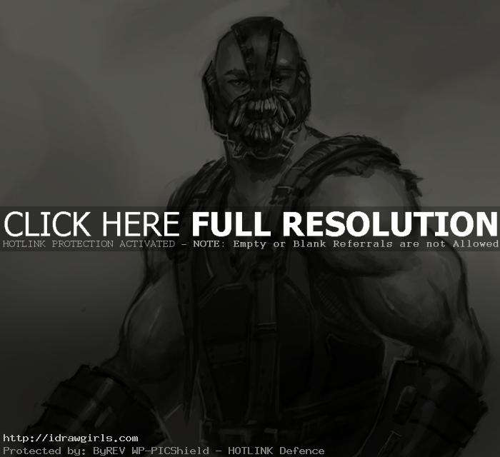 bane batman drawing How to draw Bane