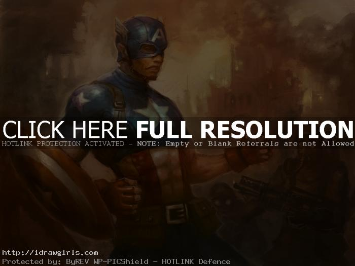 captain america How to paint Captain America
