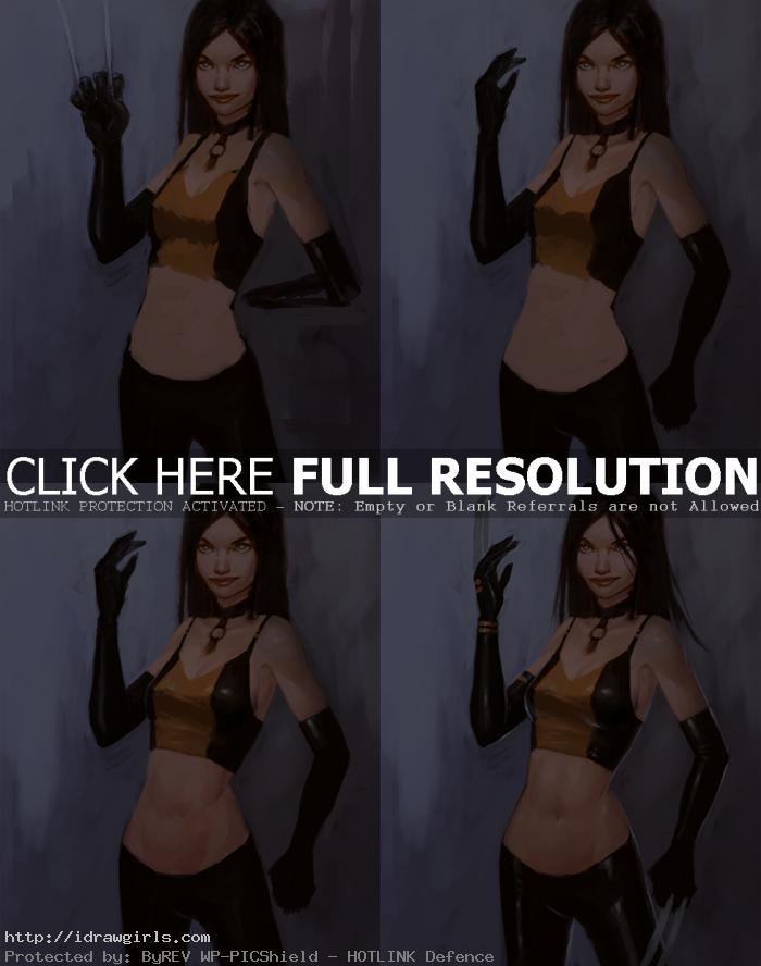 digital painting x 23 comics How to paint X 23 Laura Kinney