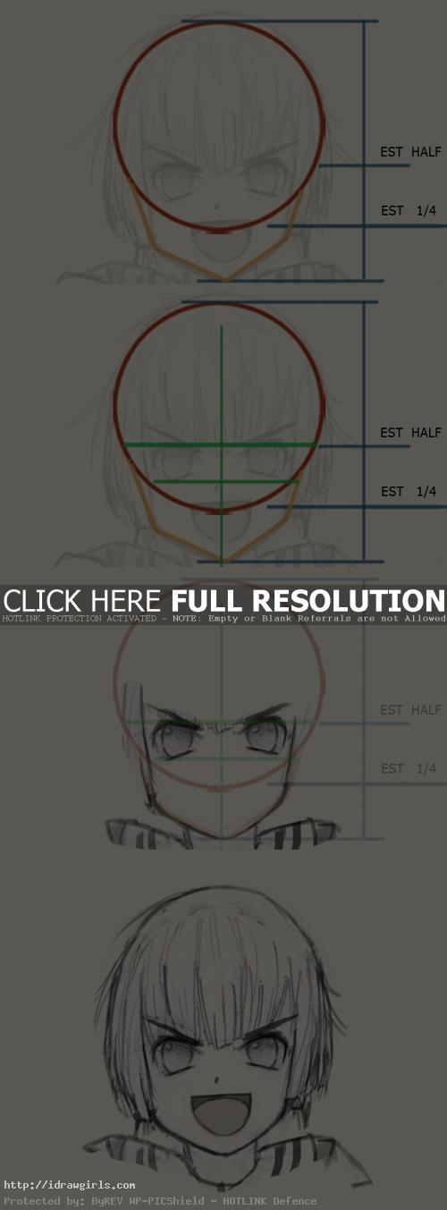 draw anime confident face Draw Anime confident face expression