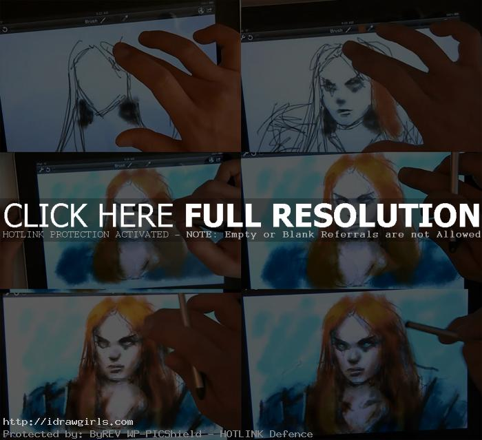 draw portrait on ipad tutorial