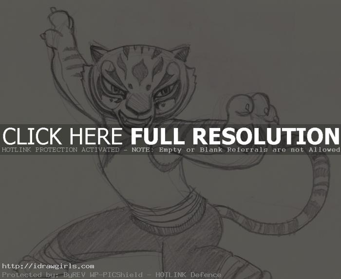 draw tigress How to draw master Tigress