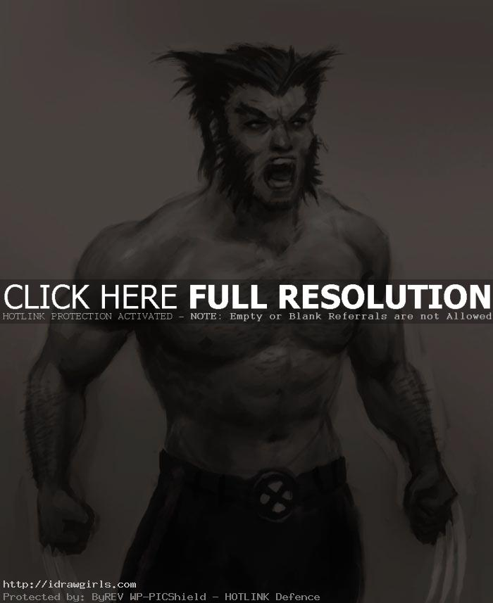 draw wolverine How to draw Wolverine