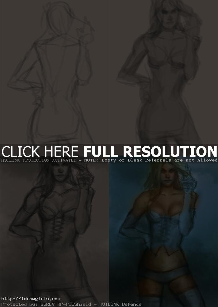 drawing emma frost How to paint Emma Frost