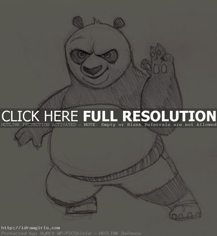 drawing kung fu panda How to draw Po Kung Fu Panda