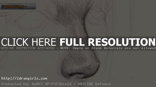 drawing nose How to draw nose side view.