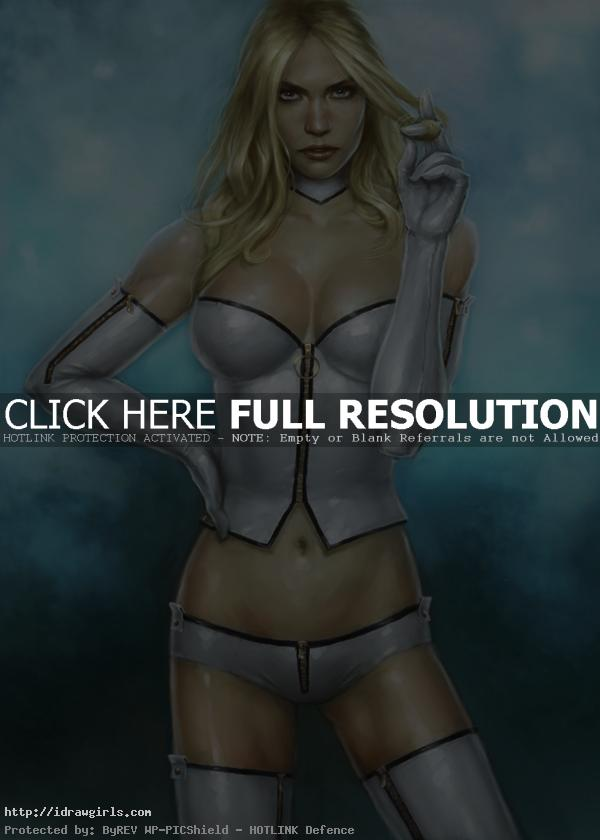 emma frost How to paint Emma Frost