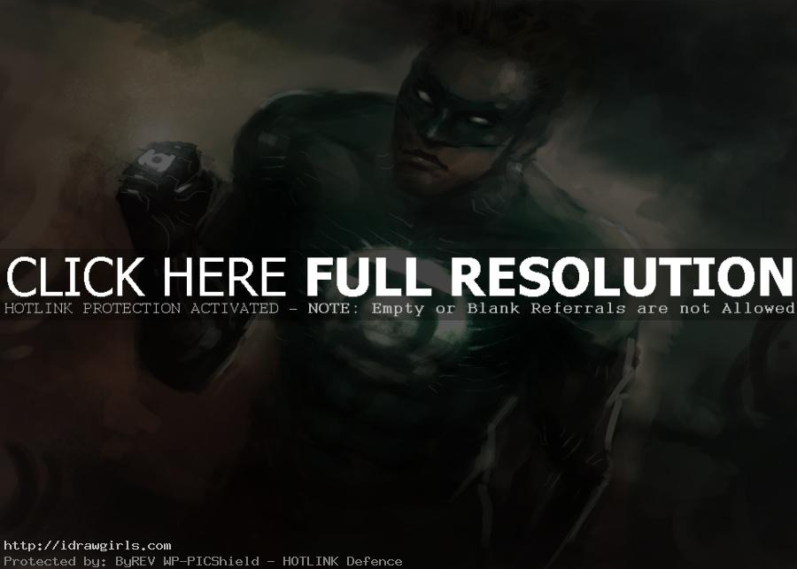 green lantern speed painting How to draw Green Lantern