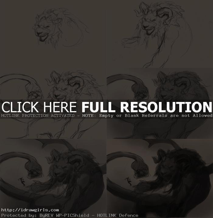 how to draw creature chimera Draw and paint Chimera