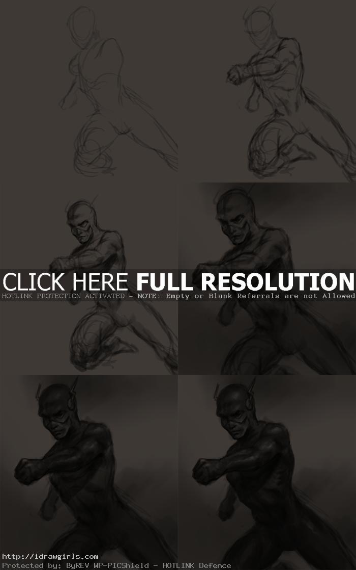how to draw flash comics How to draw Flash