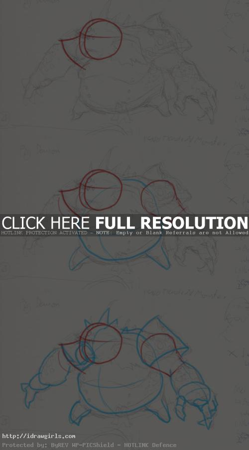how to draw pig monster How to draw pig monster