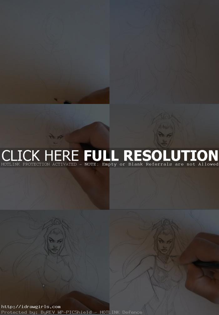 how to draw storm x men How to draw Storm X men