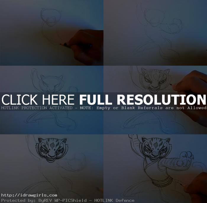 how to draw master Tigress