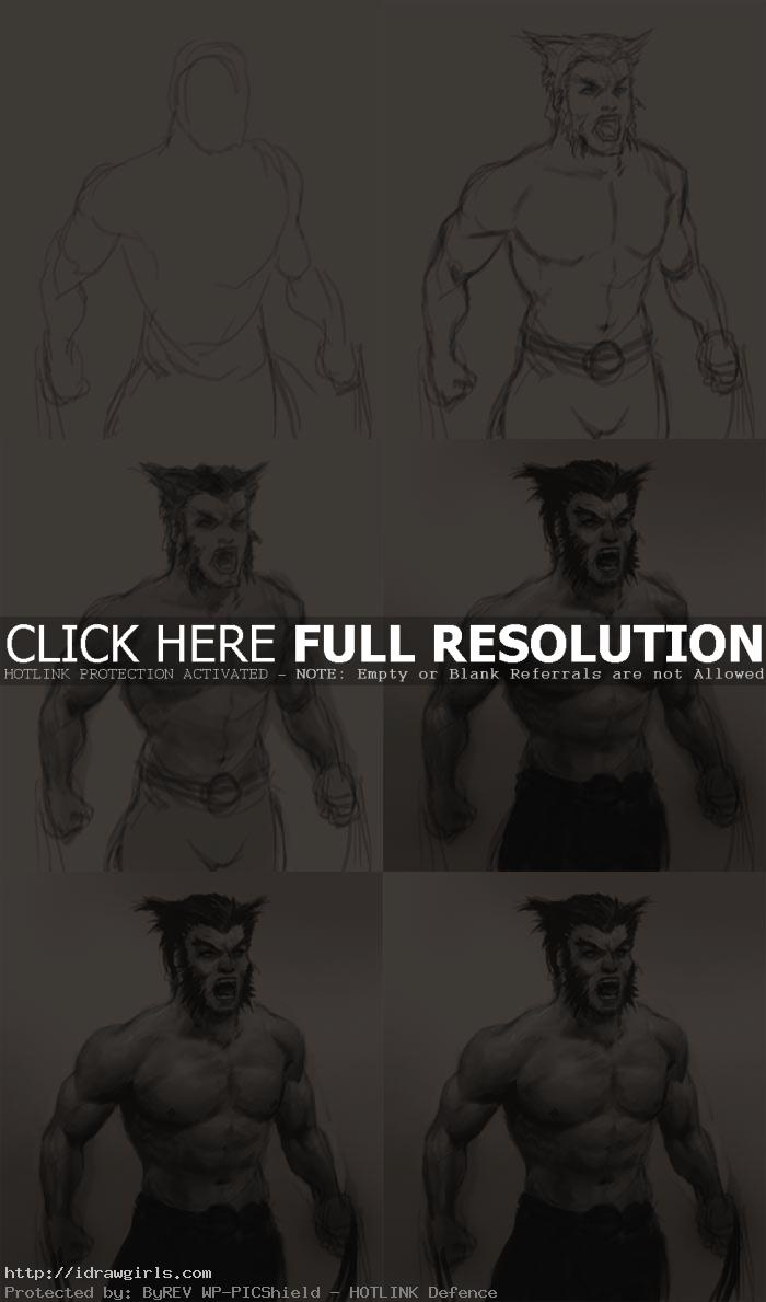 how to draw wolverine logan How to draw Wolverine
