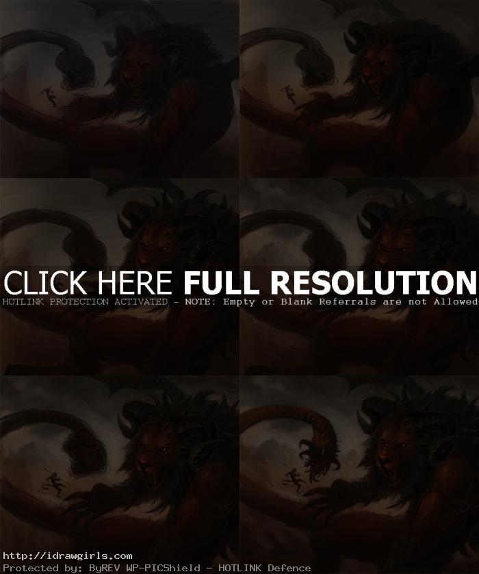 how to paint chimera Draw and paint Chimera
