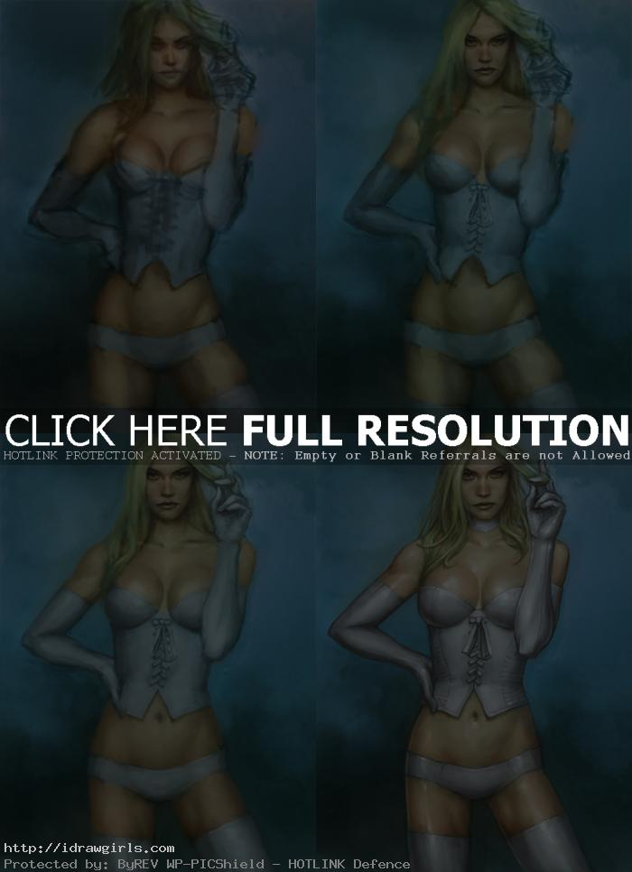 how to paint Emma Frost