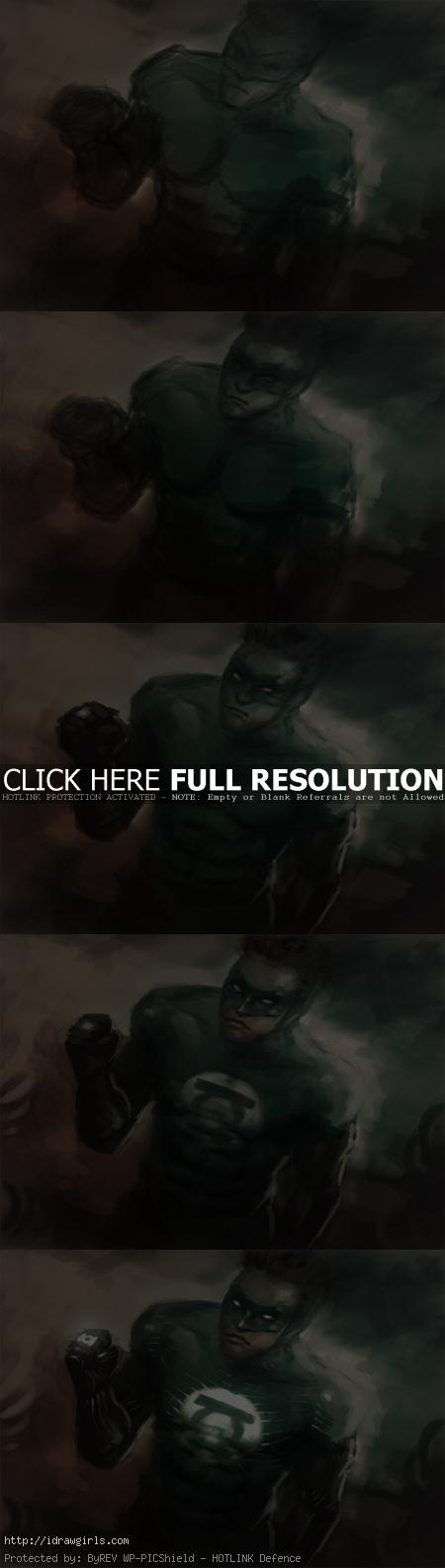 how to paint green lantern How to draw Green Lantern