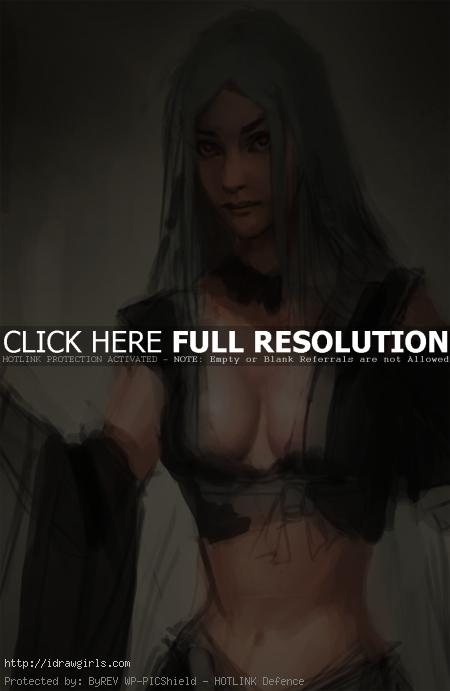how to paint skin and chest for female character