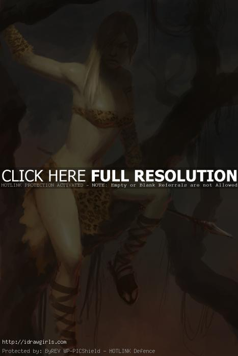 huntress of amazon How to get better at digital painting.