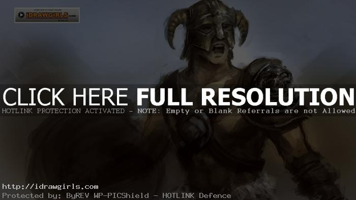 paint skyrim Draw and paint Skyrim warrior