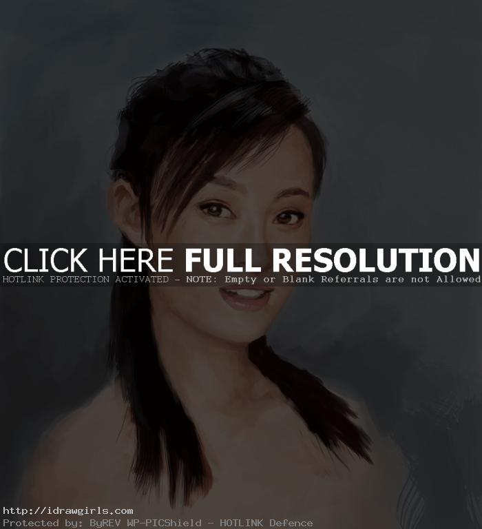 painting Chinese woman portrait