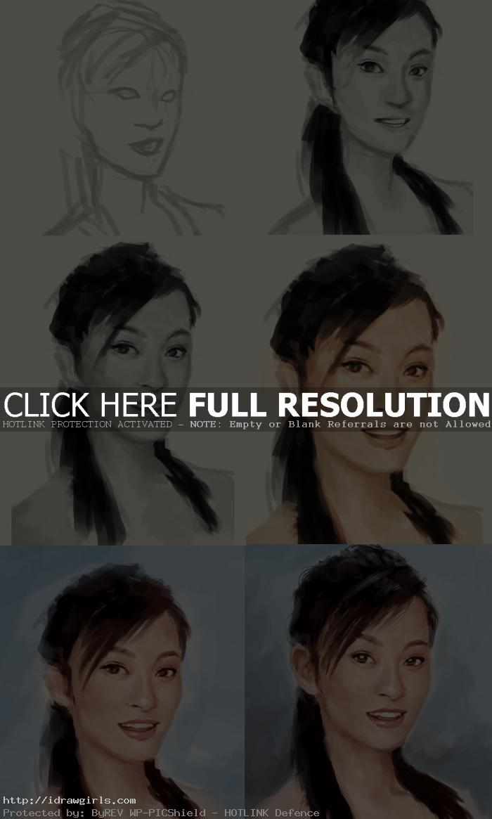 painting portrait step by step Painting Chinese woman portrait