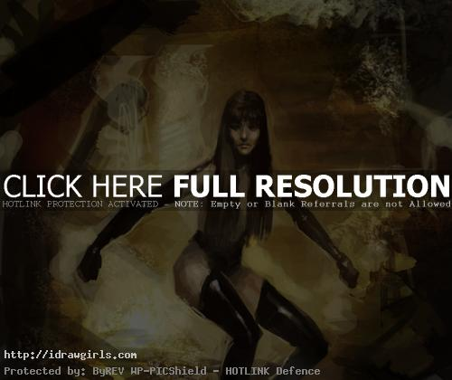 Draw and paint Silk Spectre Watchmen