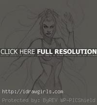 Storm X-men drawing