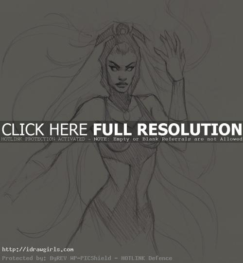 storm x men drawing How to draw Storm X men