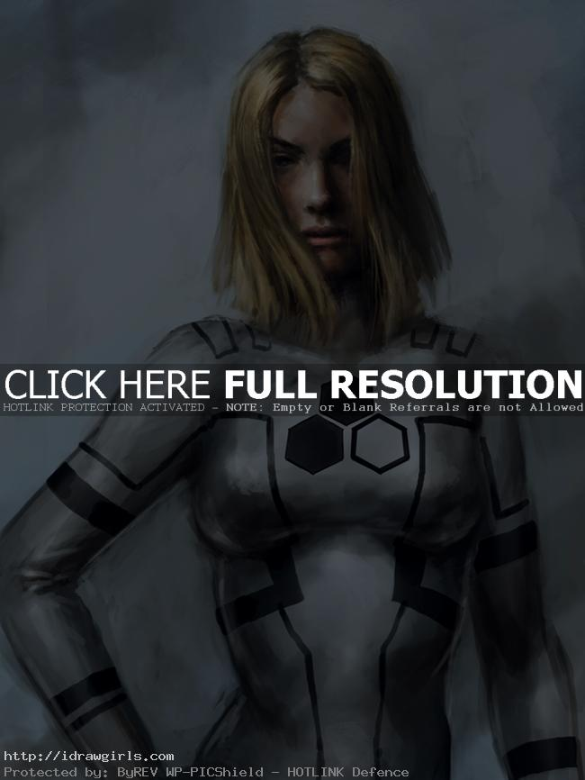susan storm fantastic 41 How to paint Susan Storm invisible woman