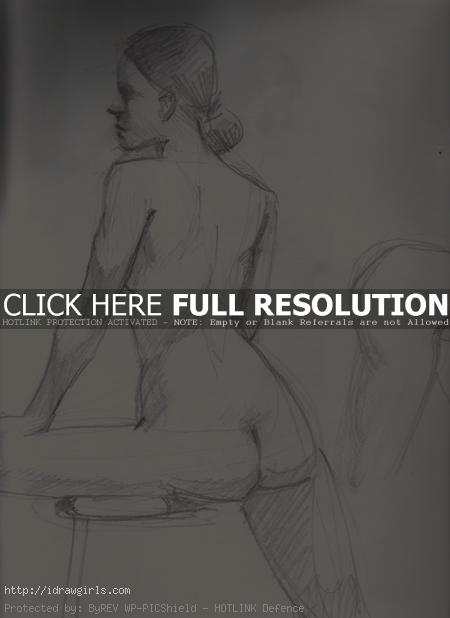 10 minutes gesture figure 0011 Painting over figure drawings