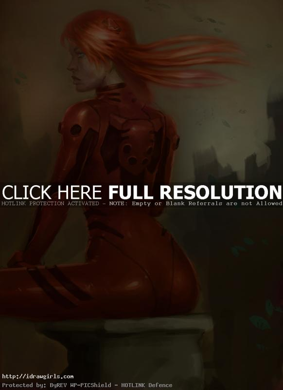 asuka langley How to paint Asuka Evangelion