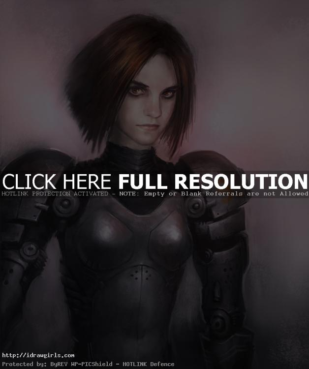 battle angel alita How to draw battle angel Alita