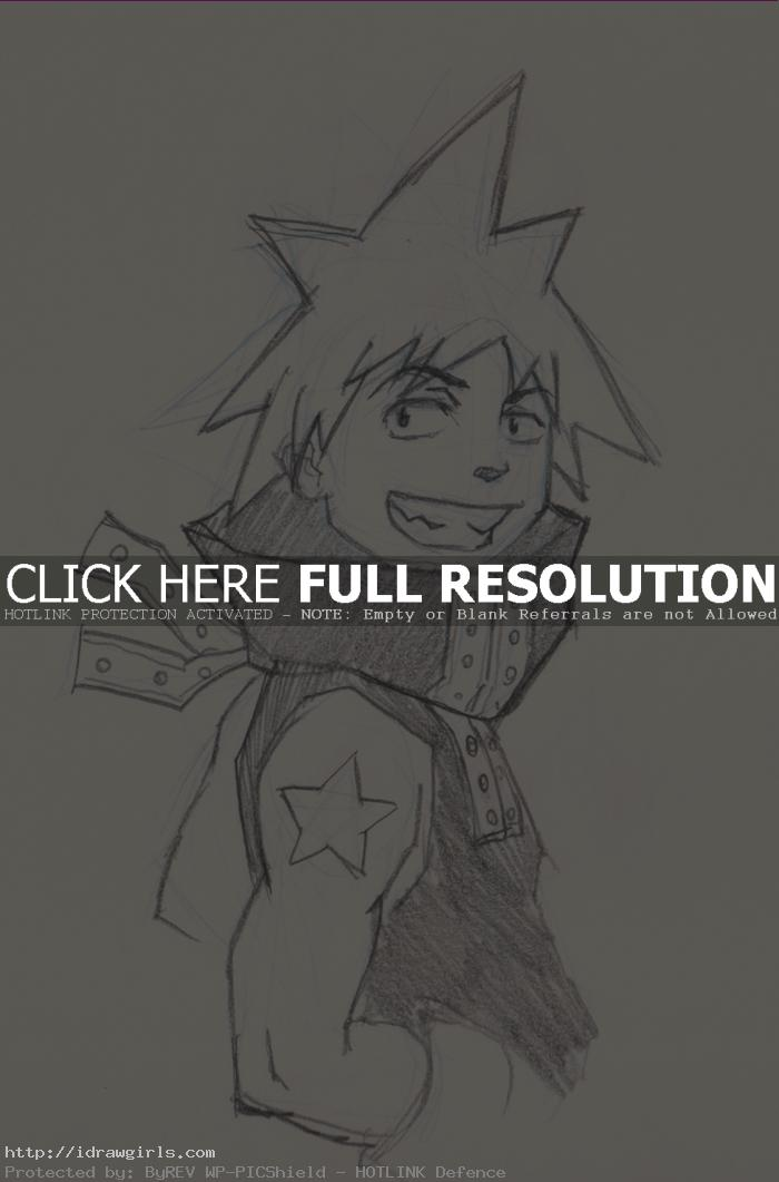 How to draw Anime Blackstar Soul Eater