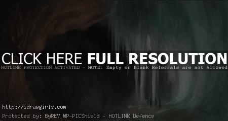 Digital painting tutorial environmental concept crystal cave