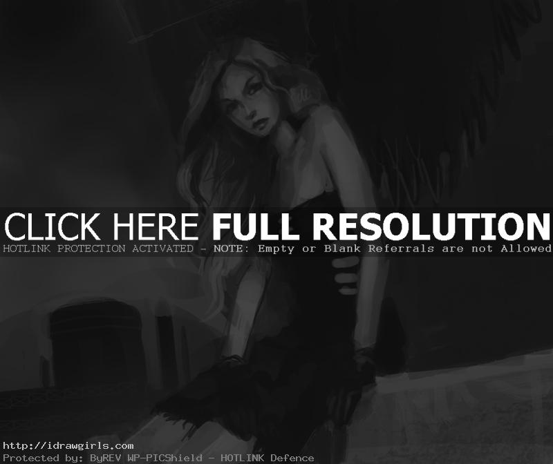 dark angel speed sketch How to draw Dark Angel