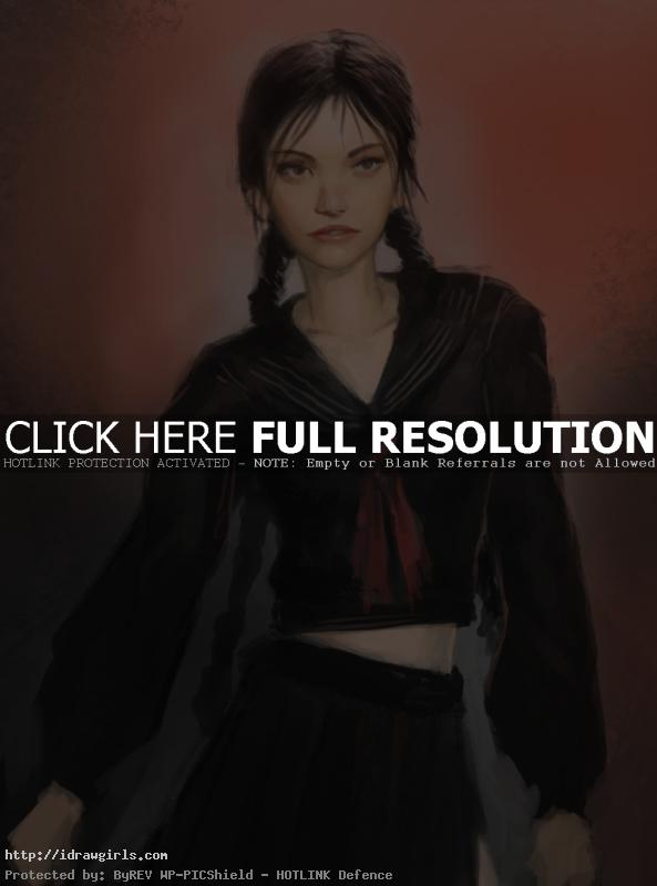 Saya vampire hunter concept art