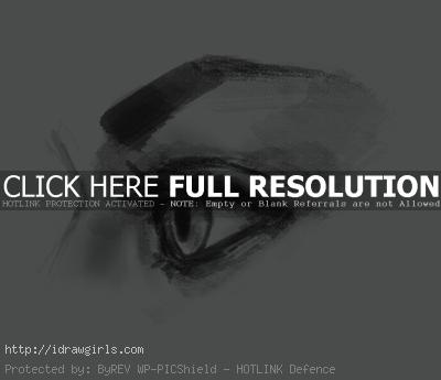 drawing eye side view