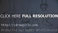 drawing foot