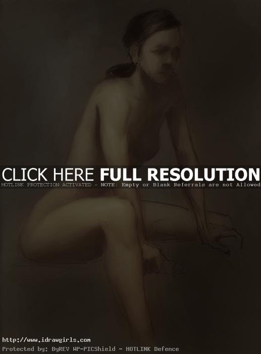 figure drawing paint over study 02