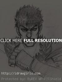 Guts Berserk drawing