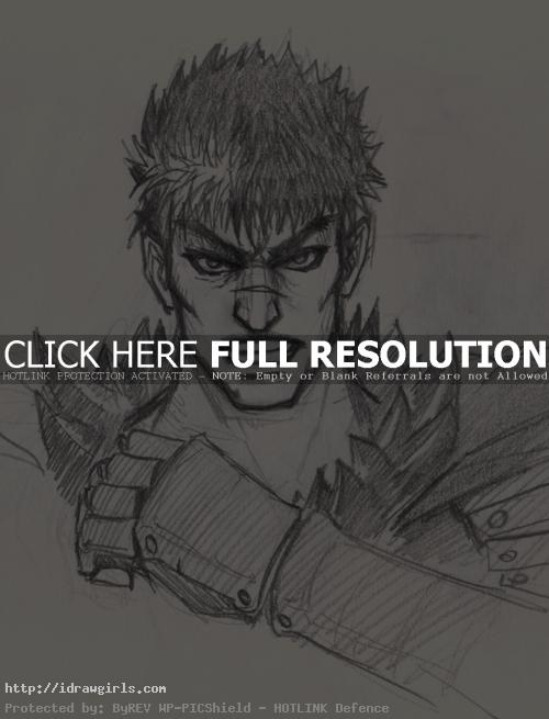 guts berserk drawing How to draw Manga Guts from Berserk